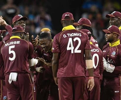 Rediff Cricket - Indian cricket - Five-Wicket Sheldon Cottrell, Shimron Hetmyer Lead Windies To Victory