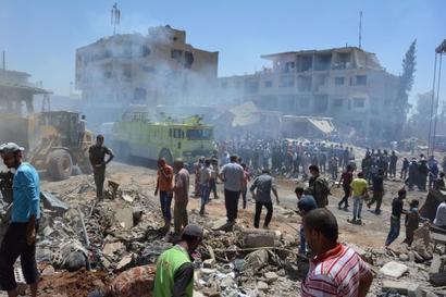 44 killed in Islamic State bomb attacks in Syria