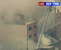 Reported explosion, building collapse in New York City