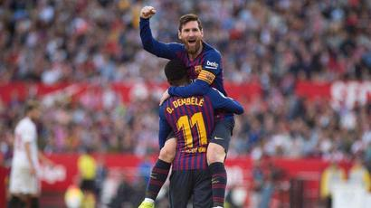 Rediff Cricket - Indian cricket - Barcelona stalwart Lionel Messi downs Sevilla with 50th career hat-trick