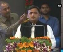 Mulayam, Akhilesh at Lucknow-Agra Expressway foundation stone laying ceremony