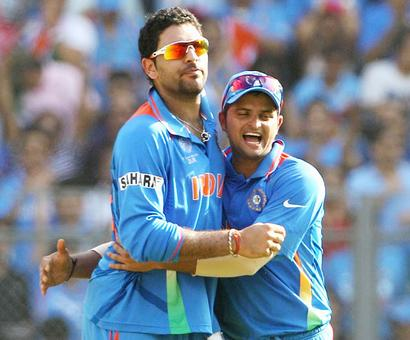 Rediff Sports - Cricket, Indian hockey, Tennis, Football, Chess, Golf - Yuvraj, Raina failed 'Yo-Yo' endurance test at the NCA