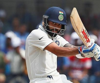 Rediff Cricket - Indian cricket - Warm-up, Day 2: Kohli hits 50 as India score 312-9 in drawn tie