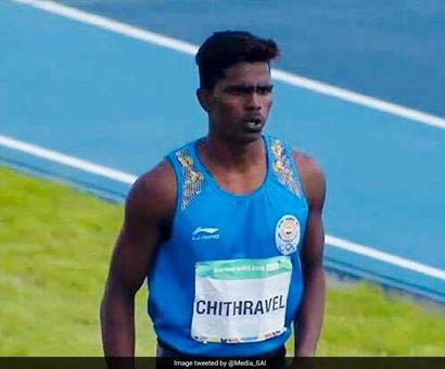 Rediff Sports - Cricket, Indian hockey, Tennis, Football, Chess, Golf - Youth Olympics: Praveen Chitravel Wins Bronze In Triple Jump