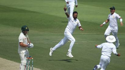 Rediff Sports - Cricket, Indian hockey, Tennis, Football, Chess, Golf - Mohammad Abbas, Fakhar Zaman and Azhar Ali extend Pakistan's dominance
