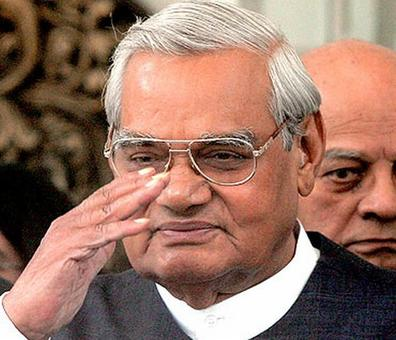 President leaves for Vajpayee's home to confer Bharat Ratna