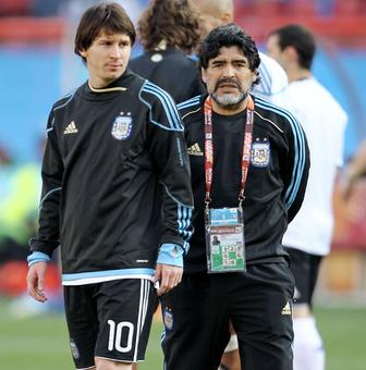 Messi fails to match Maradona success in Argentina shirt