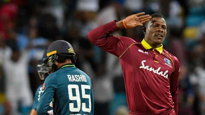 Rediff Cricket - Indian cricket - Attention! Sheldon Cottrell explains his wicket celebration
