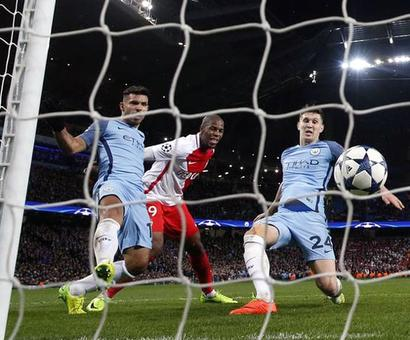 Rediff Sports - Cricket, Indian hockey, Tennis, Football, Chess, Golf - Five-star Manchester City edge thriller with Monaco
