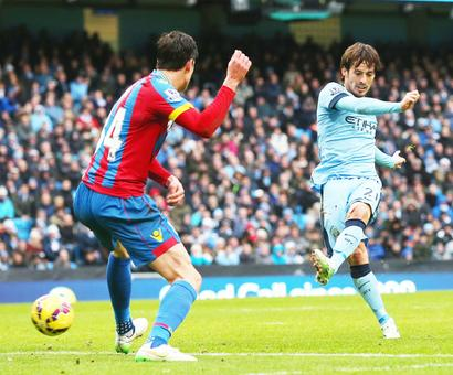 EPL PHOTOS: Silva gives City win over Palace