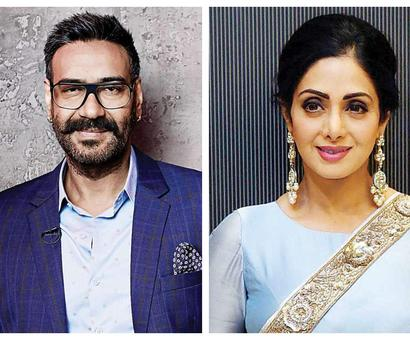 Current Bollywood News & Movies - Indian Movie Reviews, Hindi Music & Gossip - Ajay Devgn fondly remembers Sridevi