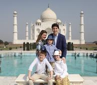 Justin Trudeau visits Taj Mahal: Check out pics of Hadrien's day out