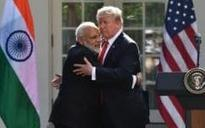 Modi's Trump card: Indian prime minister eschews handshake with president in favour of a hug