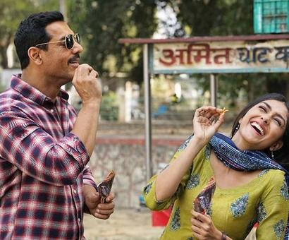 Current Bollywood News & Movies - Indian Movie Reviews, Hindi Music & Gossip - BATLA HOUSE: John Abraham and Mrunal Thakur caught in a candid moment in this new photo
