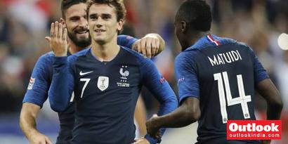 Rediff Sports - Cricket, Indian hockey, Tennis, Football, Chess, Golf - UEFA Nations League: Antoine Griezmann Double Helps World Champions France Beat Germany 2-1