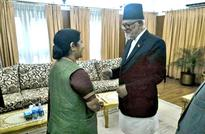 Sushma Swaraj arriving Nepal for Koirala's funeral