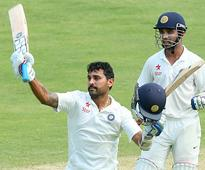 Vijay ton, Rahane put India in strong position on day 1 ...