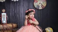 Rediff Cricket - Indian cricket - MS Dhoni's daughter Ziva looks like a princess in her latest photo shoot, see pic