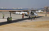 Solar-powered plane circles globe, returns to UAE