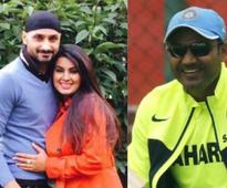 Rediff Sports - Cricket, Indian hockey, Tennis, Football, Chess, Golf - Virender Sehwag's funny way of wishing Harbhajan Singh on becoming father