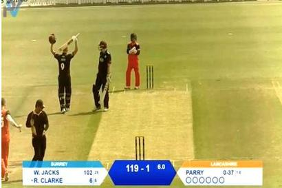 Rediff Cricket - Indian cricket - Will Jacks smashes 25-ball hundred in a T10 game