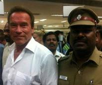 Arnold Schwarzenegger attends 'I' audio launch in Chennai