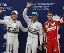 Rediff Sports - Cricket, Indian hockey, Tennis, Football, Chess, Golf - Hamilton on pole, Vettel 2nd in qualifying at Malaysian GP