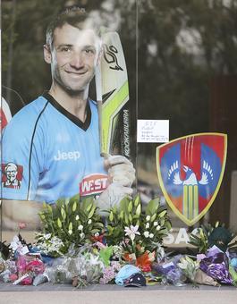 Phil Hughes' funeral on December 3