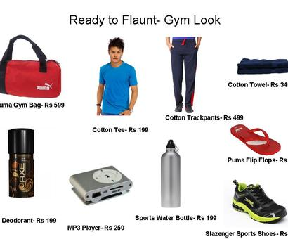 Ready to flaunt: Gym Look