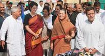 Sonia Gandhi, Priyanka Gandhi flexis dismantled in capital