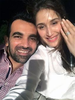 Rediff Cricket - Indian cricket - Zaheer gets engaged to 'Chak De India' star Sagarika