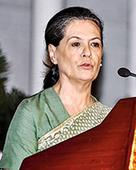 Sonia rap and appeal to BJP