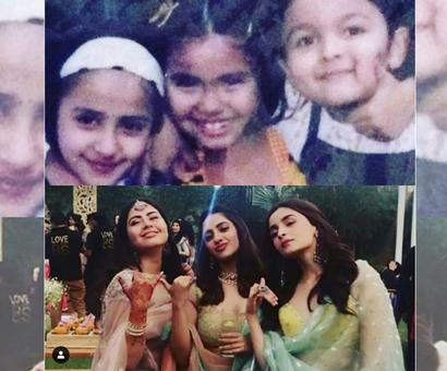 Current Bollywood News & Movies - Indian Movie Reviews, Hindi Music & Gossip - Alia's then & now pics with with her besties