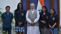 PM Modi meets Rio's heroes, lays down blueprint for Olympics glory