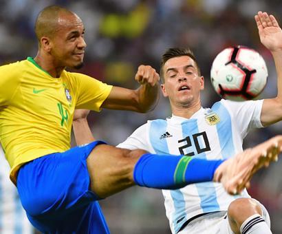 Rediff Sports - Cricket, Indian hockey, Tennis, Football, Chess, Golf - PHOTOS: Brazil down Argentina; Belgium held by Netherlands