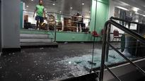Cricket shamed in Colombo: Bangladesh dressing room door smashed to pieces, as ugly scenes mar match against Sri Lanka