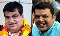 Maharashtra CM probables Devendra Fadnavis, Gadkari greet each on