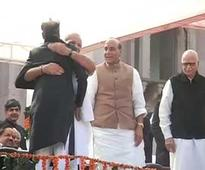 At Vasundhara Raje's swearing-in, the great Modi-Gehlot photo-op