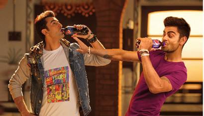 Kohli in new Pepsi ad with Anushka and Ranbir