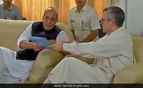Rajnath Singh Meets Mehbooba Mufti, Opposition In Kashmir