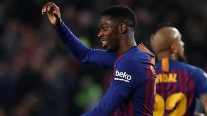 Rediff Cricket - Indian cricket - Copa Del Rey: Dembele double helps Barcelona defeat Levante