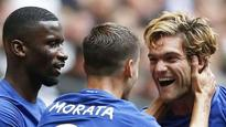 Rediff Sports - Cricket, Indian hockey, Tennis, Football, Chess, Golf - Premier League 2017-18: Marcus Alonso scores a brace as Chelsea beat Tottenham Hotspur