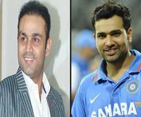 Rediff Cricket - Indian cricket - Sehwag trolls birthday boy Rohit Sharma in his inimitable style!