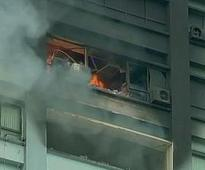 Several trapped as fire breaks out at 24-storey building in Kolkata