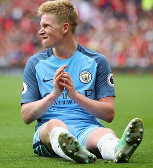 Rediff Sports - Cricket, Indian hockey, Tennis, Football, Chess, Golf - EPL: Manchester City's De Bruyne suffers knee injury, faces long wait on sidelines