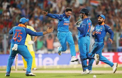 Rediff Cricket - Indian cricket - Had the delivery spun in, I wouldn't have got the hat-trick: Kuldeep