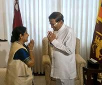 Swaraj winds up her two-day Lanka visit