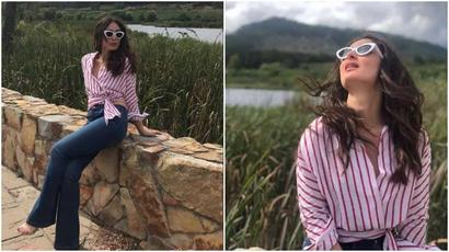 Current Bollywood News & Movies - Indian Movie Reviews, Hindi Music & Gossip - Kareena Kapoor Khan enjoys a sunny holiday in South Africa with friends. See new...