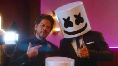 Current Bollywood News & Movies - Indian Movie Reviews, Hindi Music & Gossip - Shah Rukh Khan makes cameo in new Marshmello music video, a tribute to the greatest...
