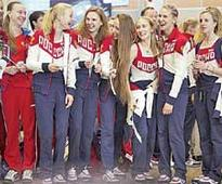 Russian Olympic team arrives in Rio